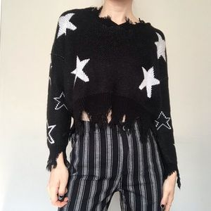 ☆ Distressed Cropped Sweater ☆
